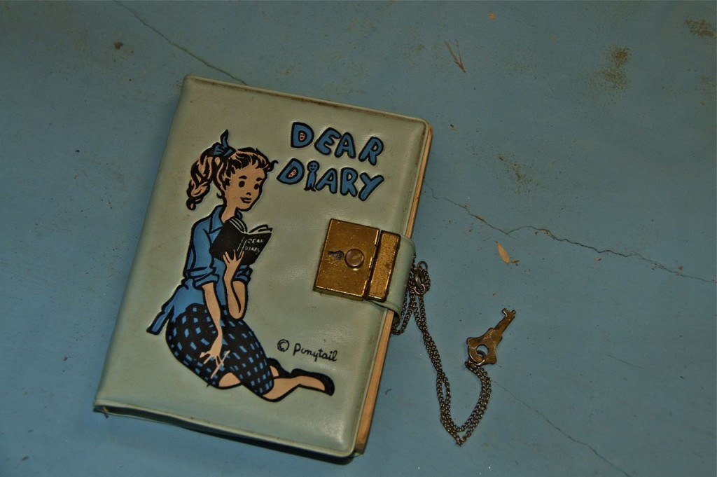 "I found my first journal ""Dear Diary"""