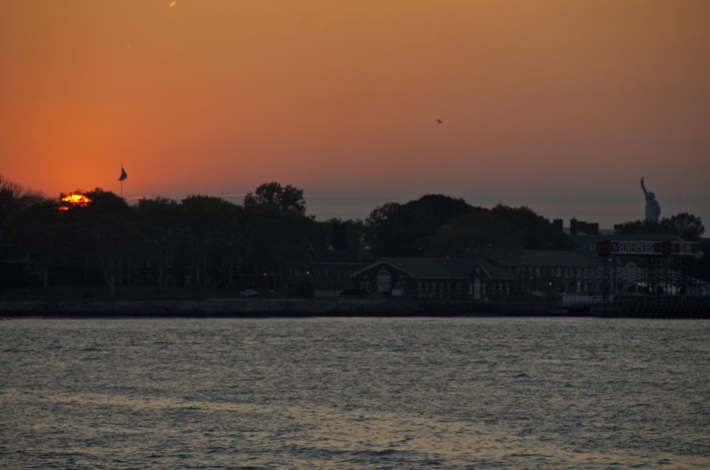 SUNSET OVER GOVERNORS ISLAND