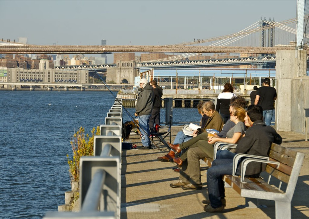 relaxing on Pier 5