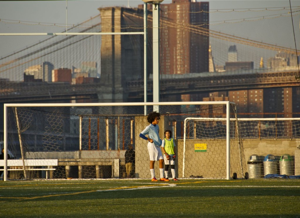 PLAYING SOCCER ON PIER 5