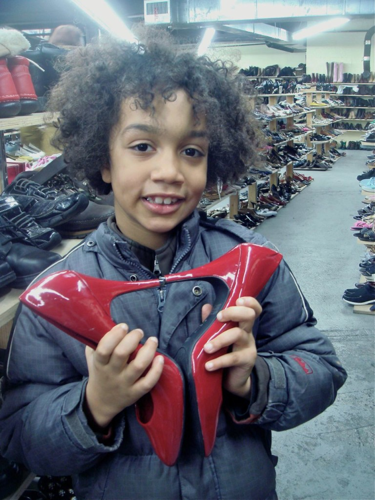 BOY WITH HEART SHAPED SHOES