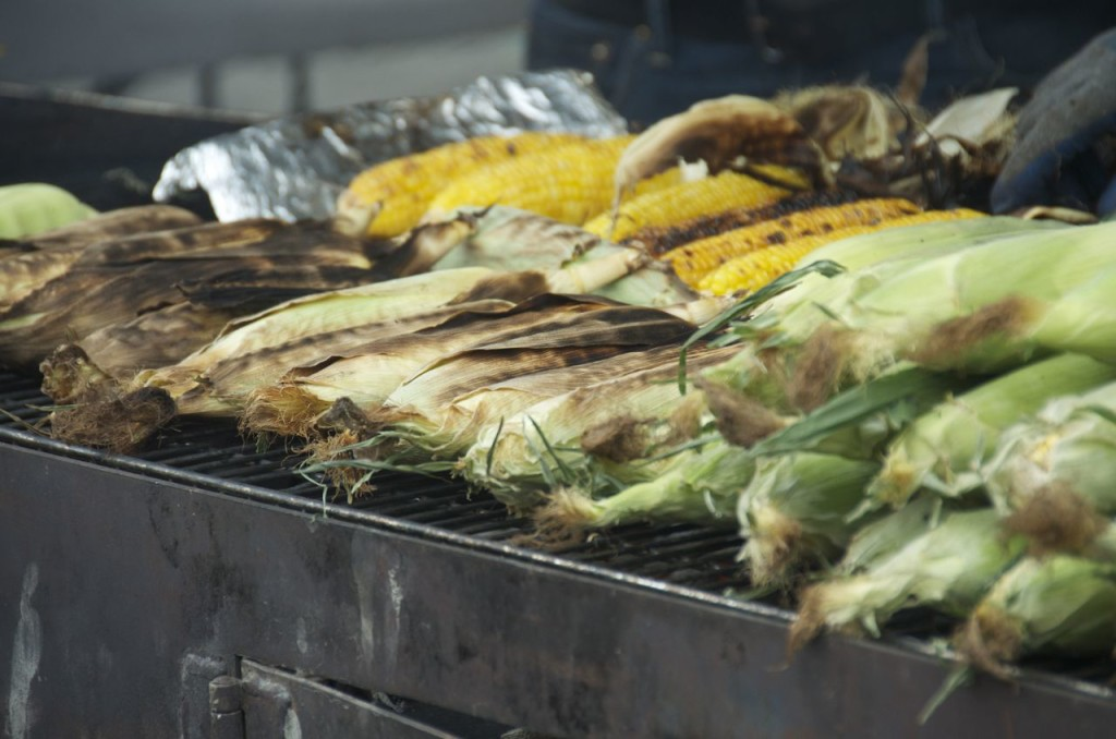 roasted ears of corn