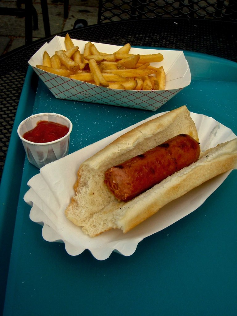hotdog and a bun