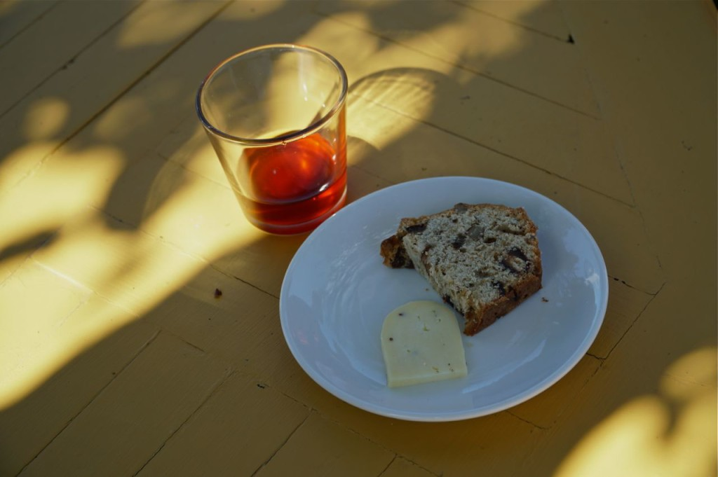CAKE, CHEESE AND BRANDY